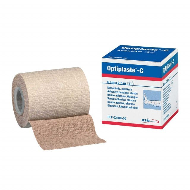 Optiplaste-C elastic adhesive bandage | Available in various widths; Roll length: 2.5 m