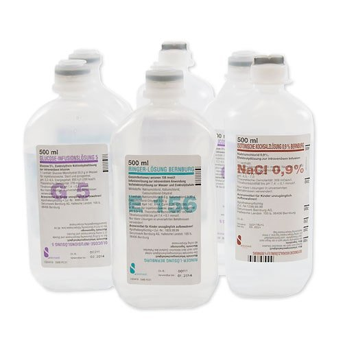 Glucose 5 % solution for infusion therapy or as a carrier medium