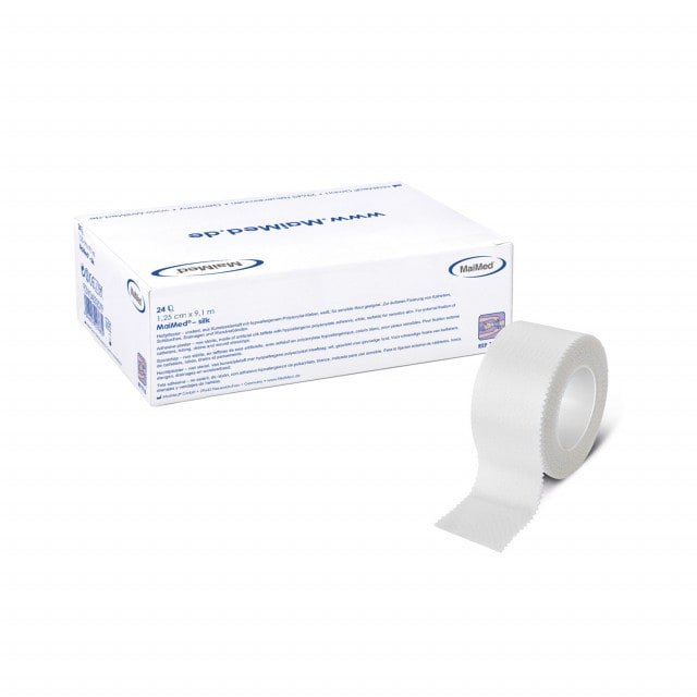 MaiMed-silk adhesive tape, available in different widths