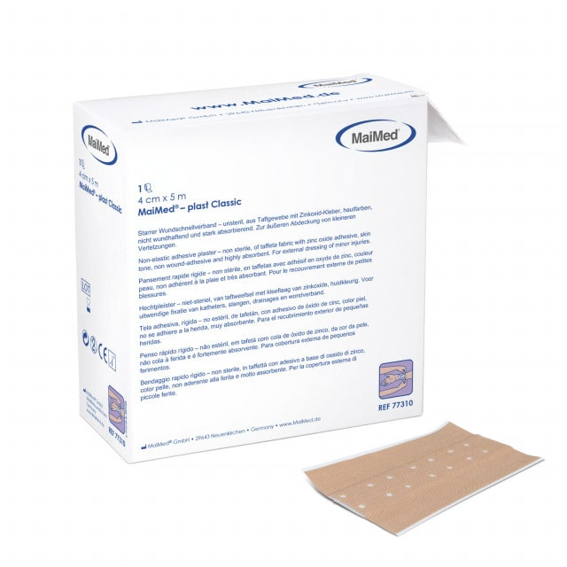 MaiMed®-plast Classic: Apósito listo para usar, recortable, no se adhiere a la piel