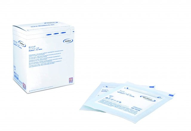 MaiMed-VK sterile non-woven compresses, available in various sizes