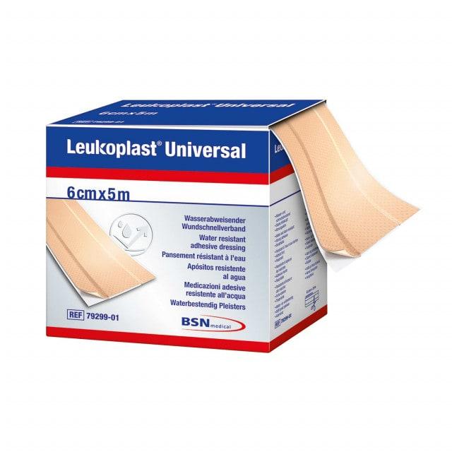 Leukoplast Universal - Apósito en rollo impermeable y repelente a la suciedad