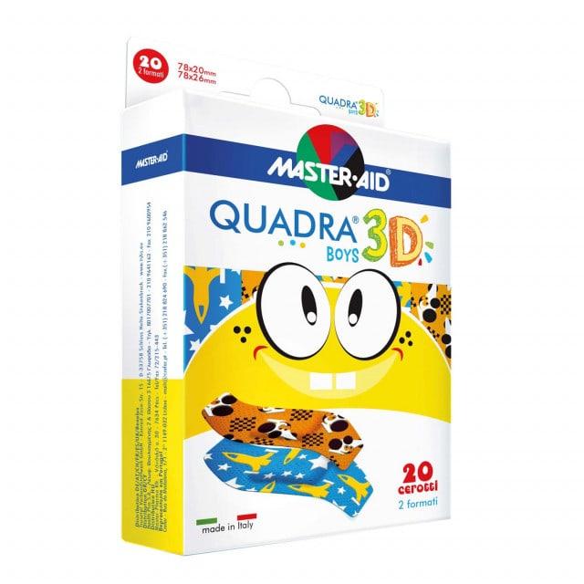 QUADRA® 3D plastry dla dzieci, dostępne w wersji dla chłopców lub dla dziewczynek