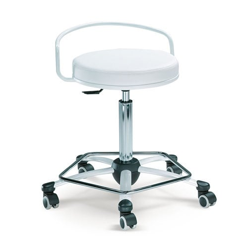 Taburete de trabajo con soporte de respaldo - Diseño ergonómico y moderno