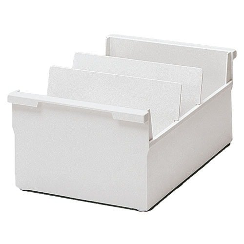Plastic index card box for approx. 1200 cards in DIN A5 horizontal format