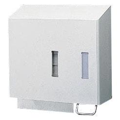 Pratico dispenser combinato per sapone e asciugamani di carta monouso