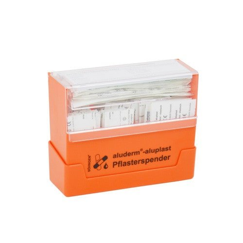 Dispensador de tiras aluderm®-aluplast, contiene 115 apósitos