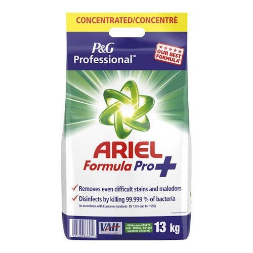 ARIEL Formula Pro+ disinfectant detergent, phosphate-free and suitable for dryers