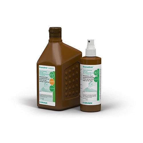 Braunoderm huiddesinfectie van B. Braun verkrijgbaar in verschillende verpakkingsgrootten