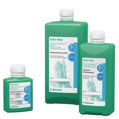 Softa-Man handdesinfectie met de verzorgende bestanddelen panthenol en bisabolol