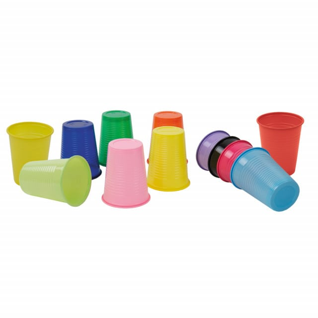 Monoart disposable cups available in many different colours