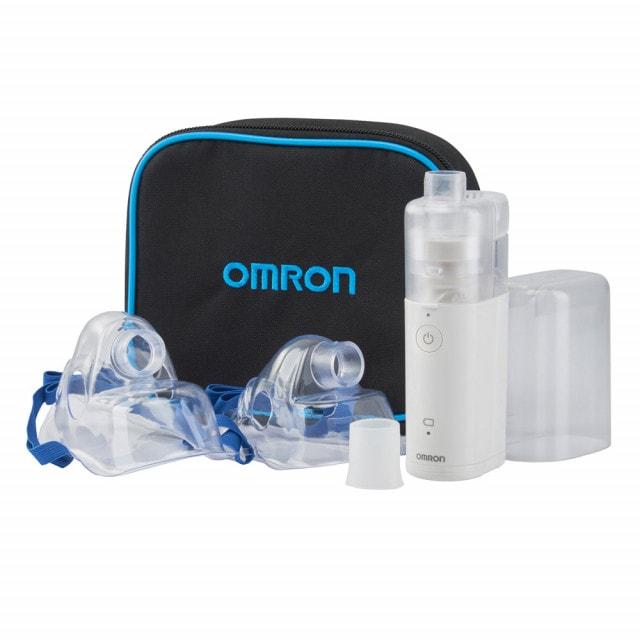 OMRON MicroAIR U100 en un set con dos máscaras para niños y adultos