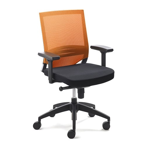 chaise de bureau myoptimax orange praxisdienst. Black Bedroom Furniture Sets. Home Design Ideas