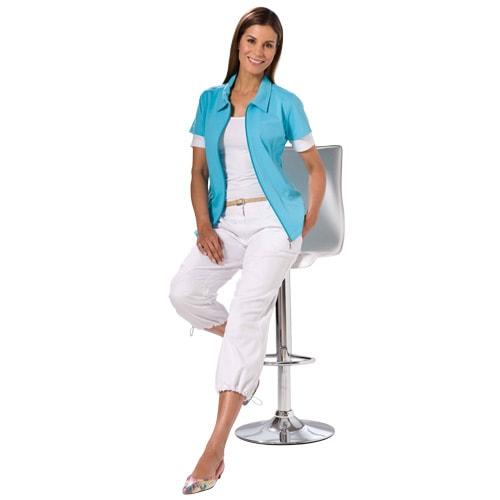 pantalons pour dames facile entretenir pantalons d 39 t l gers avec ourlet r glable. Black Bedroom Furniture Sets. Home Design Ideas