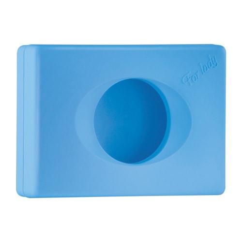 Dispensador de bolsas higi nicas de pl stico azul claro - Dispensador bolsas plastico ...
