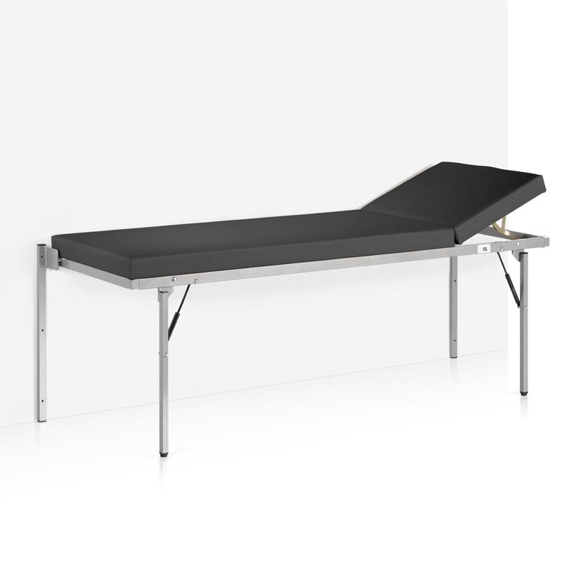 table d 39 examen pliable fixation murale sans m canisme ressort pneumatique noir praxisdienst. Black Bedroom Furniture Sets. Home Design Ideas