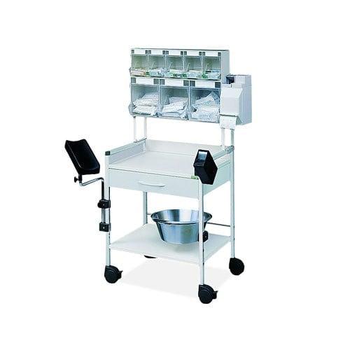 Injektionswagen PicBox Plus mit Armauflage und Injektions-Set