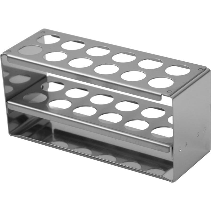Reagenzglashalter aus rostfreiem Edelstahl, klein für 12 Reagenzgläser