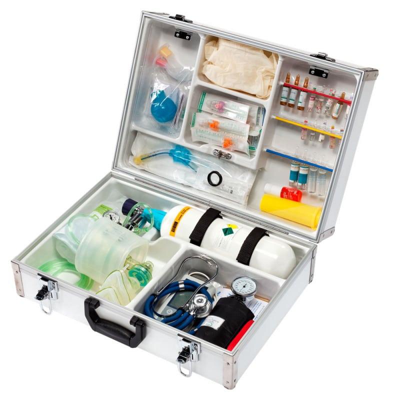 Notfallkoffer EuroSafe II für Notärzte, Internisten, Allgemeinmediziner