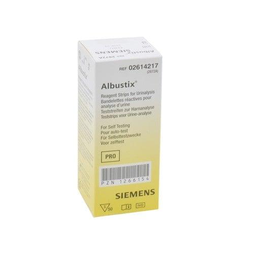 Strisce reattive per urina Albustix, 1 confezione da 50 pezzi