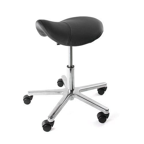 Swivel stool with saddle seat