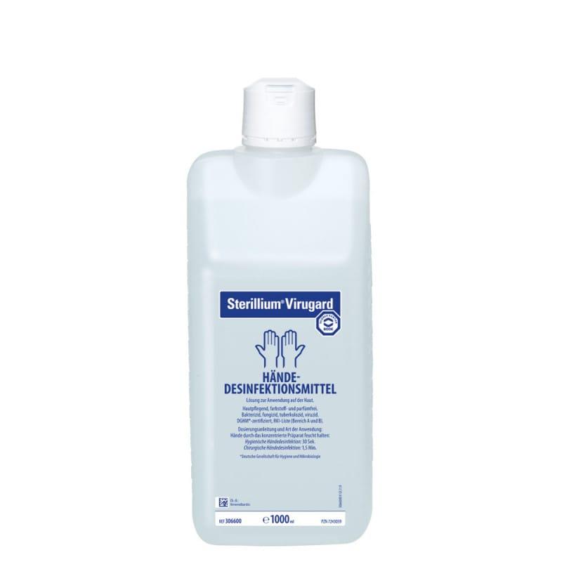 Desinfectante de manos Sterillium Virugard con breve tiempo de exposición y amplio espectro de acción
