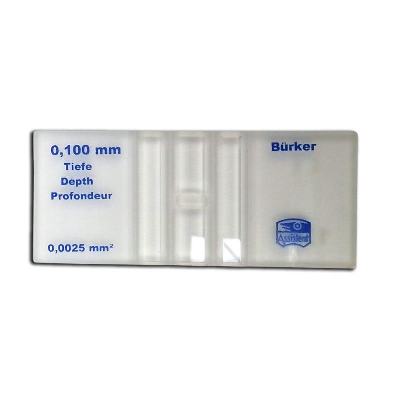 Zählkammer aus reinweißem, chemisch resistentem Spezialglas