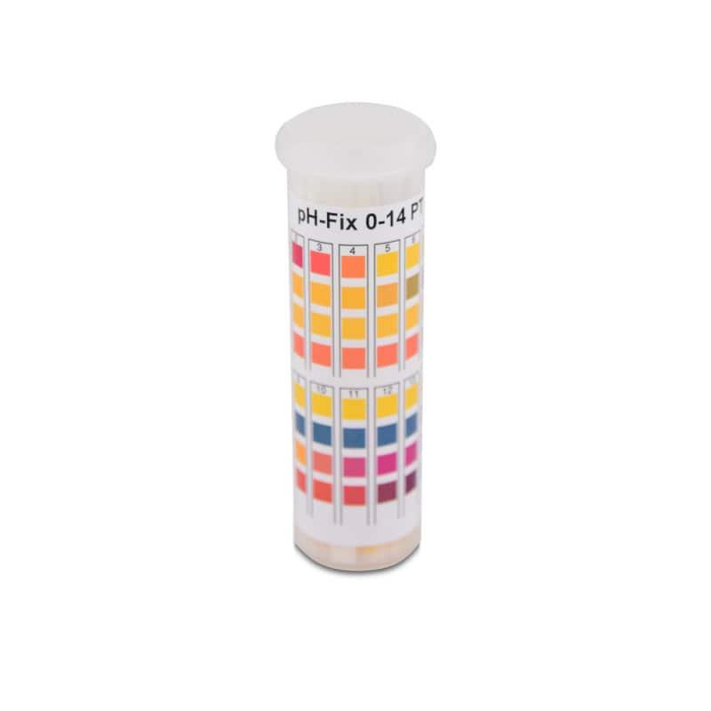 pH-Indikatorstreifen zur Messung des pH-Werts im Bereich 0 bis 14