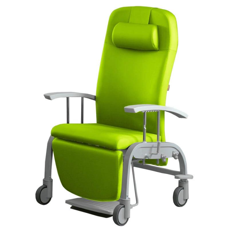 Ruheliege und Pflegesessel «Fero», fahrbar, lange Garantie-Laufzeit