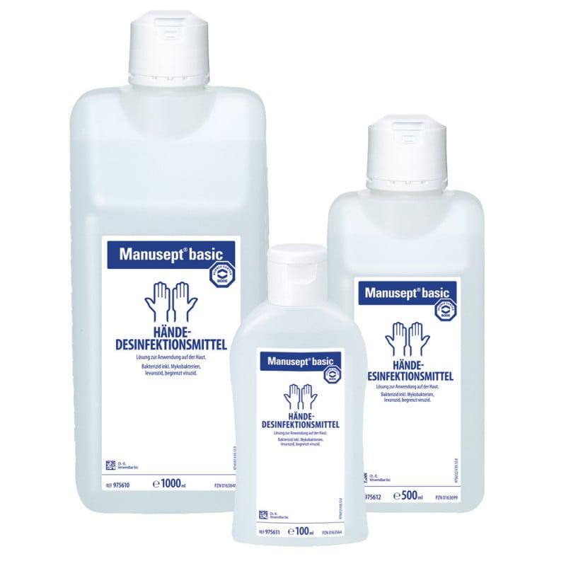 Manusept basic Händedesinfektion mit rückfettenden Inhaltsstoffen