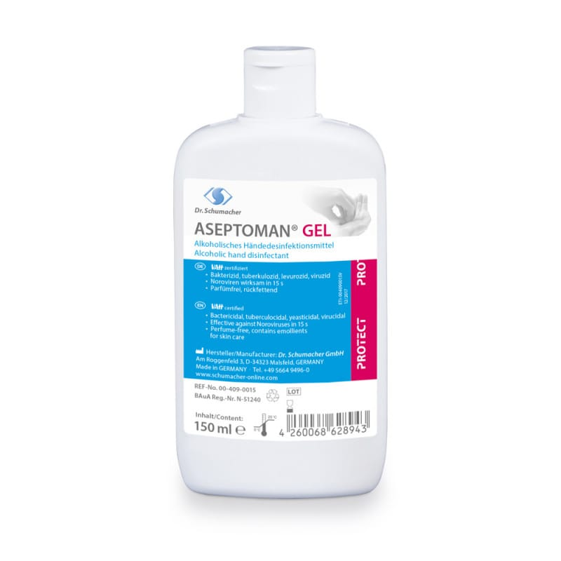 ASEPTOMAN Gel Händedesinfektionsmittel mit sehr guter Verträglichkeit