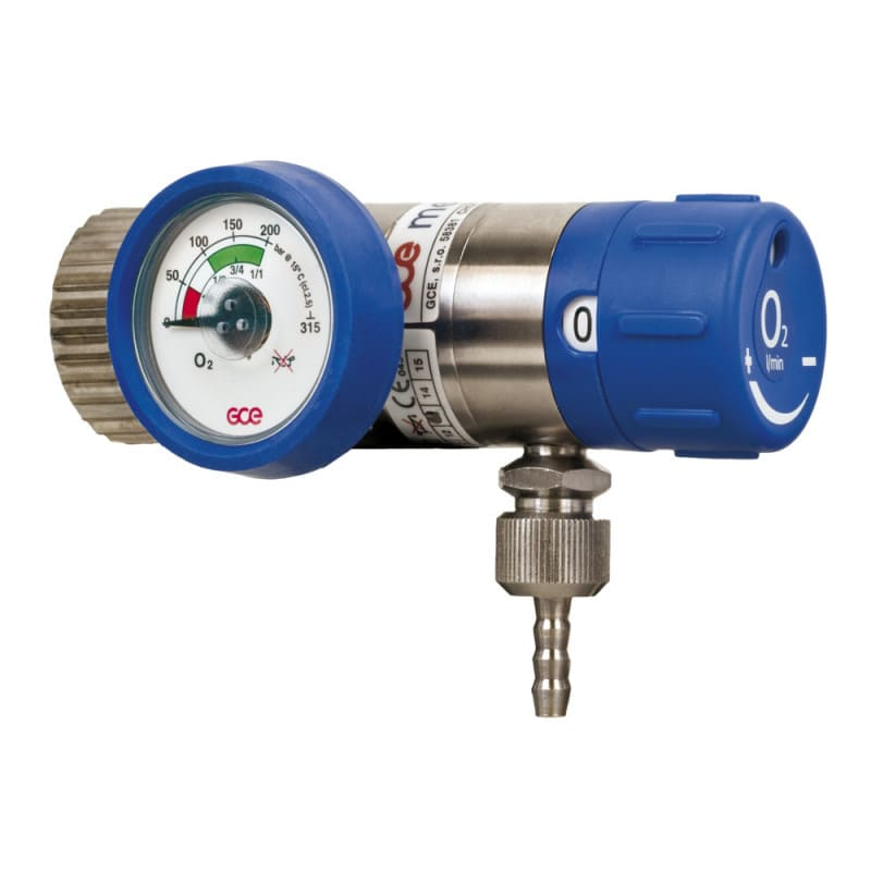 "Oxygen pressure regulator | 3/8"" G; 1/4"" G with nozzle"