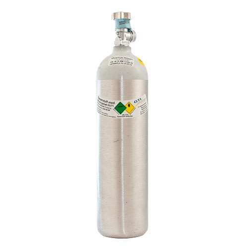 Butla tlenowa aluminiowa, napełniona, 2 litry