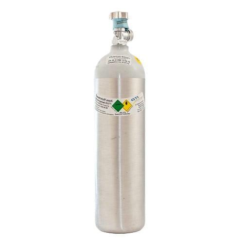 Aluminium Oxygen Tank, Filled, 2 Litres