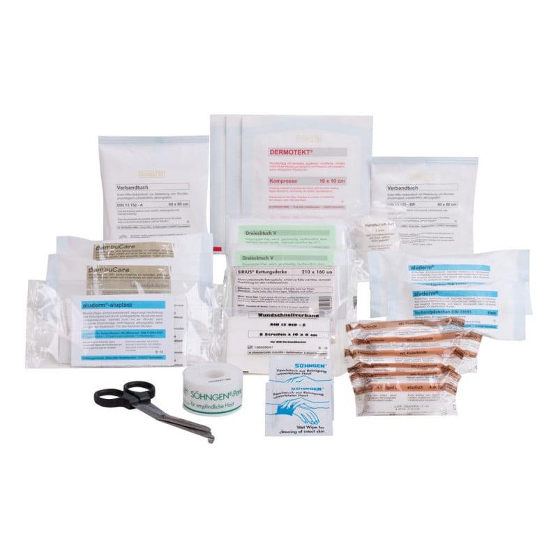 Verbandskasten Füllung nach DIN 13164 mit 20 Jahre steriler Haltbarkeit