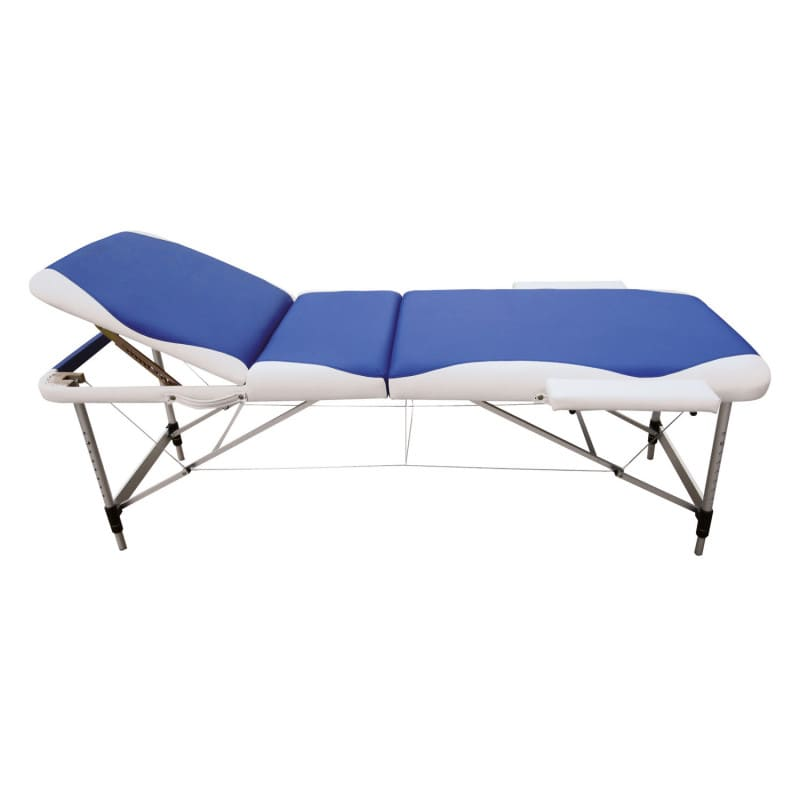 Mobile and foldable massage table with modern design