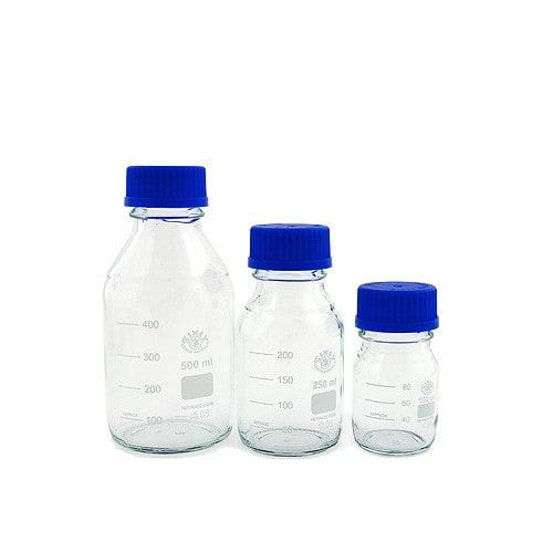 Die Laborglasflaschen sind in verschiedenen Größen erhältlich