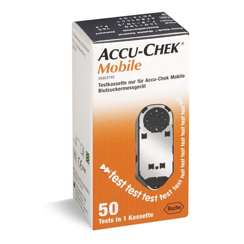Cassette de test pour Accu-Check Mobile