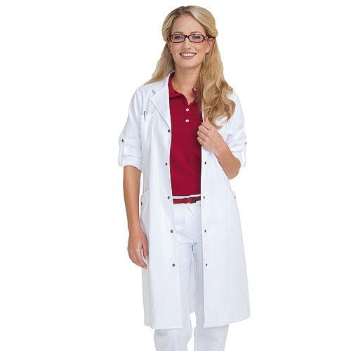 Women's Lab Coat with Rolled Cuffs