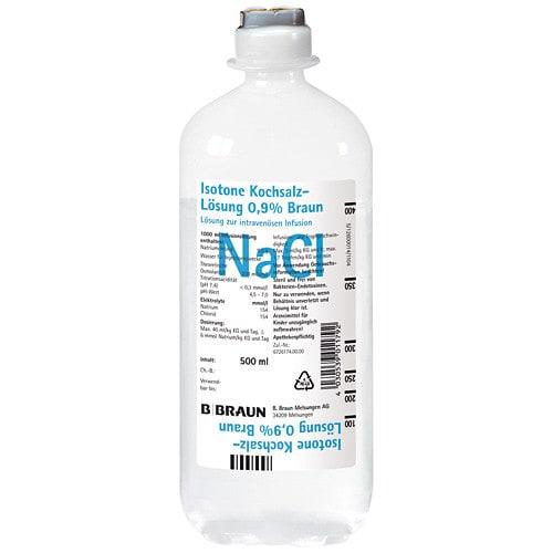 B.Braun Isotone Kochsalzlösung 0,9% in der ecoflac® plus PE-Flasche