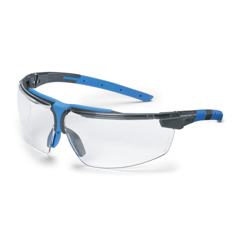 Occhiali protettivi resistenti a graffi e prodotti chimici per medico, dentista o da laboratorio