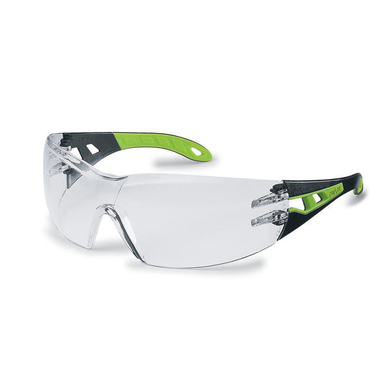 uvex pheos safety glasses with large field of vision and eyebrow protection