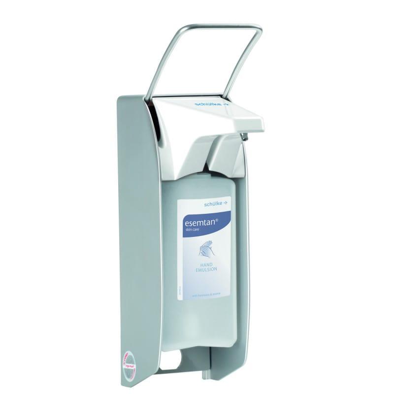 Armhebelspender von schülke - Gehäuse aus Aluminium (wirkt bakteriostatisch)