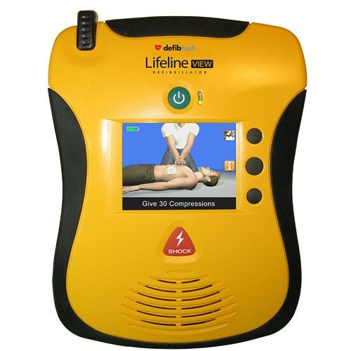 AED LifeLine View mit interaktivem, farbigem Display