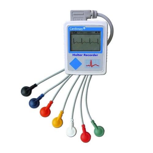EC-3H Holter-EKG-Gerät, optional mit 7-adrigem EKG-Kabel