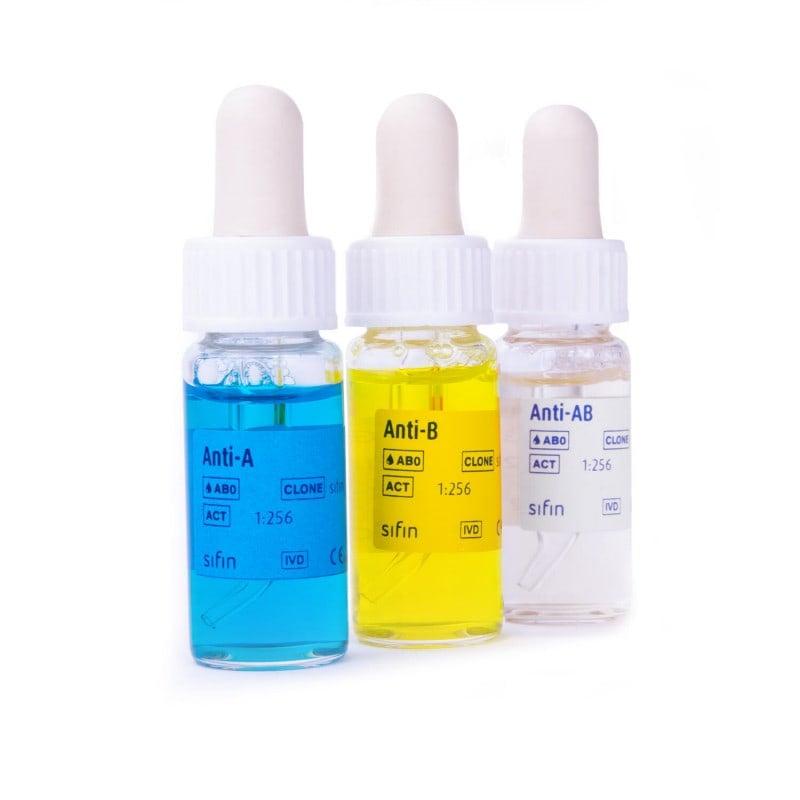 Komplettset Antigenbestimmung AB0-System, ermöglicht eine leichte Testdurchführung und deutliche Agglutination