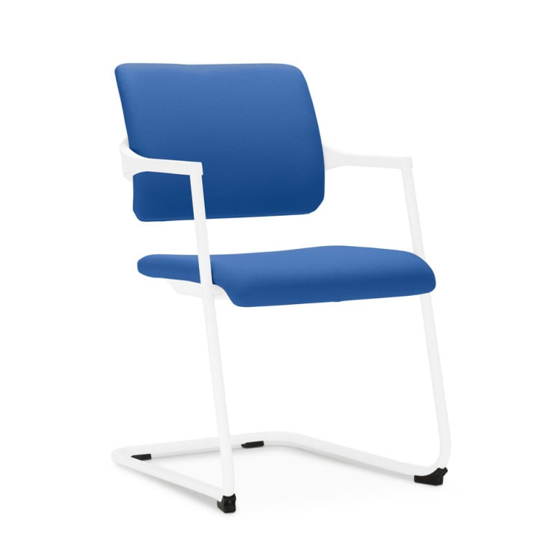 Cantilever chair with comfortably upholstered seat and backrest