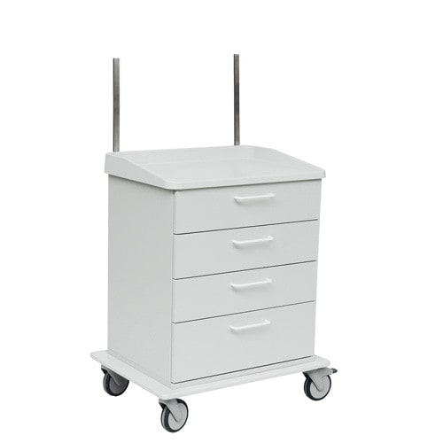 Treatment trolley from Novocal | With 4 drawers and smooth-rolling castors