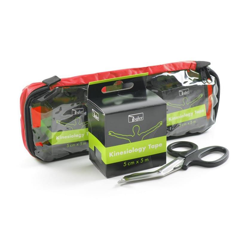 Das Teqler Kinesiologietape-Set mit Tasche und Verbandschere