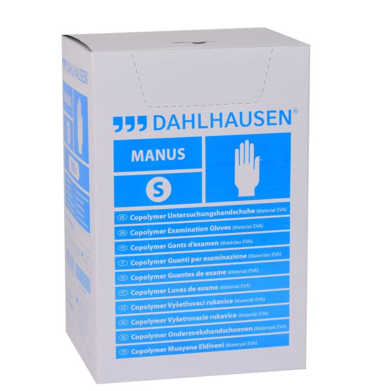 Sterile Copolymer-Handschuhe von Dahlhausen, latex- und PVC-frei
